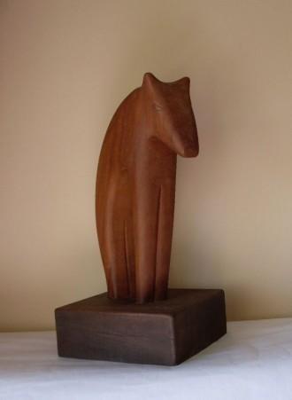 Verraco escultura en madera por manolo lafora