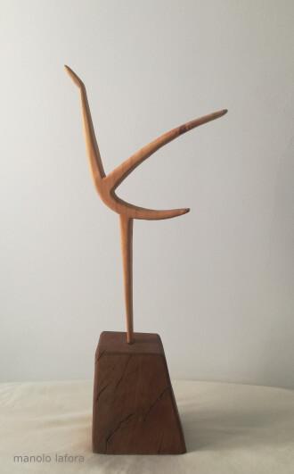 PJ en madera. by manolo lafora.