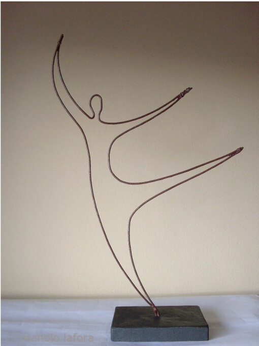 gymnastic dancer.  by m.lafora.