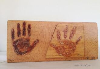 children's hands. by m.lafora.