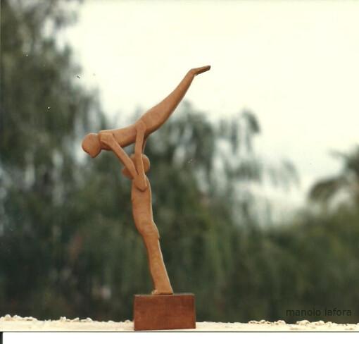 los acrobatas.  by m.lafora.
